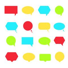 Set of colorful speech bubbles set