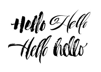 Stationery set hello there modern calligraphy notecards