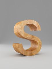 3D decorative wooden Alphabet, capital letter