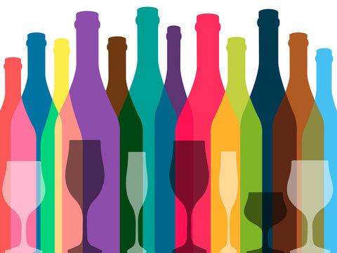 Wine background color