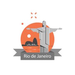 Christ the Redeemer statue, Brazil symbol, famous landmark, Rio de Janeiro travel destination, tourism concept