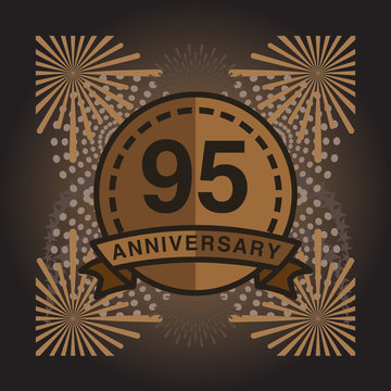 95th Anniversary fireworks and celebration background