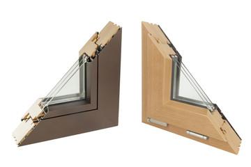 wooden and aluminium window
