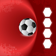 Football team background, Semi-final match team, red background
