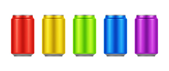 Blank small aluminium soda can mockup. Ideal for beer, lager, alcohol, soft drinks, soda, fizzy pop, lemonade, cola, energy drink, juice, water etc.