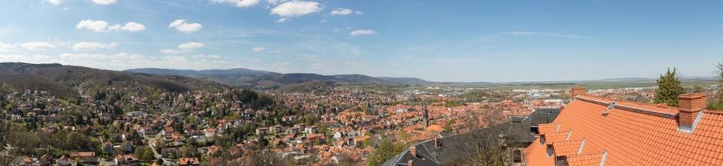 Panorama der Stadt Wernigerode im Harz Gebirge