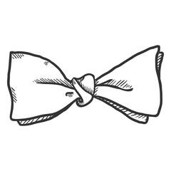 Vector Single Sketch Butterfly Bowtie