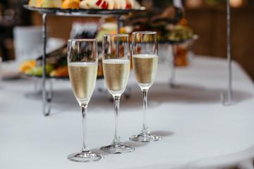 full glasses of champagne