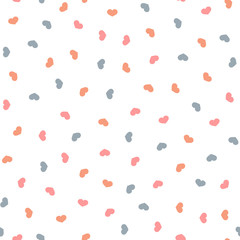 Romantic seamless pattern with colorful small hearts.