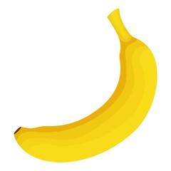 Banana icon, cartoon style