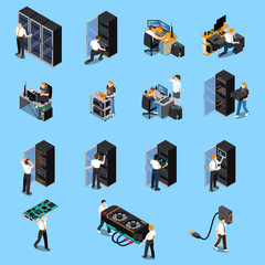 IT Engineer Isometric Set