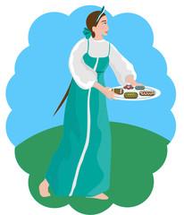 Девушка с расписными пряниками
