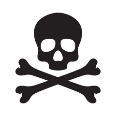 Skull pirate vector icon logo bone Halloween illustration