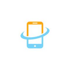 Phone Gadget logo technology vector graphic
