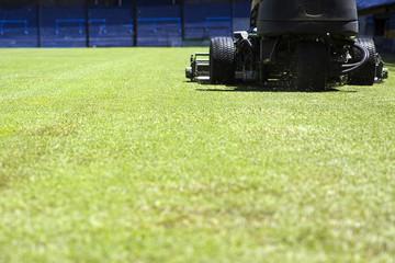 Lawnmower on the stadium