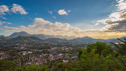 View of Luang Prabang, Laos from Mount Phousi