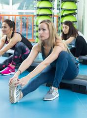 Women in the fitness-senter