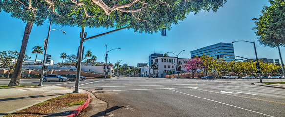 Wall Mural - Santa Monica blvd and Rodeo Drive crossroad in Beverly Hills