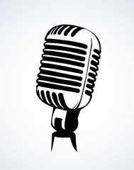 Microphone. Vector drawing