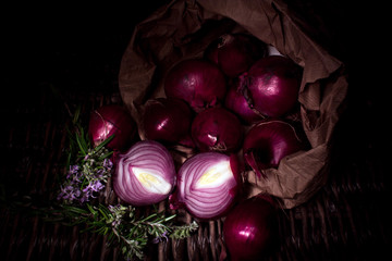 red onions  (light painting technique)