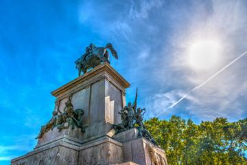 Giuseppe Garibaldi statue in Janiculum promenade