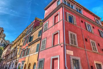 Colorful buildings in Trastevere