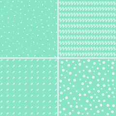 Elegant vector floral pattern set