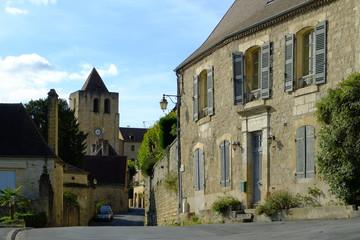 A quaint street scene in St Cyprien, Dordogne, Aquitane, France