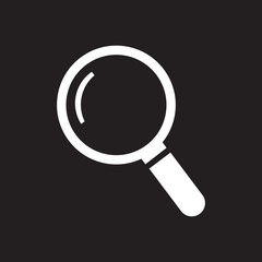White thin line search icon - vector illustration