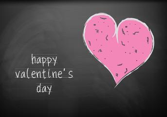happy valentine's day on blackboard