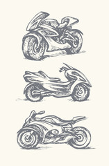 Motorcycle. Vector drawing