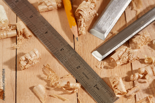 Diy Concept Woodworking And Crafts Tools Carpentry Hand Tools On A