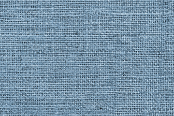 Blue Burlap Canvas Coarse Grunge Background Texture