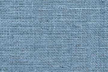 Blue Burlap Canvas Coarse Grunge Background Texture