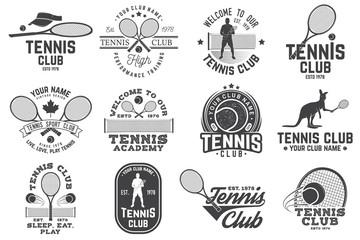 Set of Tennis club badges