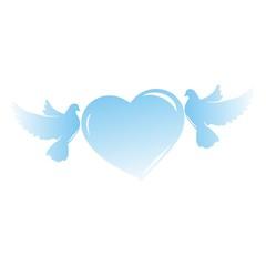голуби влюбленные