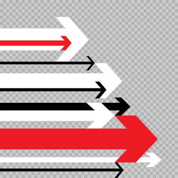 arrows move to success transparent