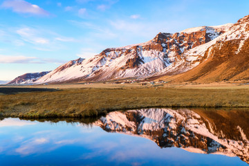 amazing countryside landscape of iceland