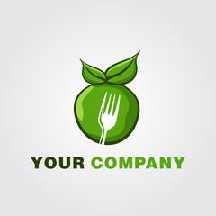 Healthy Fruit Food Logo Template vector icon design