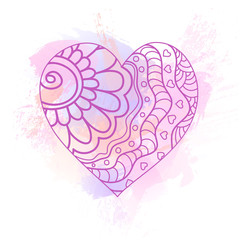 Paint  heart  with splashes and drops  for Valentine's Day or weddings