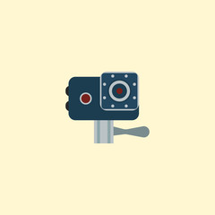 Action cam icon flat element. Vector illustration of action cam icon flat isolated on clean background for your web mobile app logo design.
