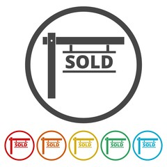 Sold sign, 6 Colors Included