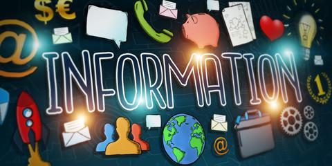 Hand-drawn information text presentation