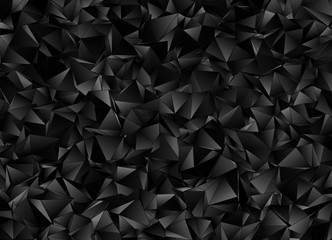 Abstract triangulated polygonal background