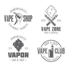 vape vector badges