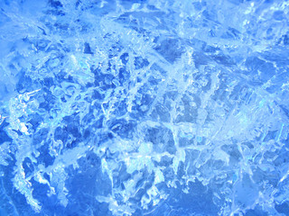Colorful ice. Abstract ice texture.