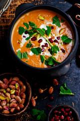 moroccan roasted pumpkin  soup vegan