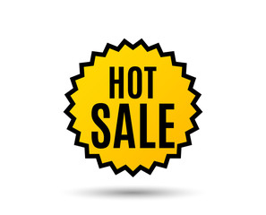 Hot Sale. Special offer price sign. Advertising Discounts symbol. Star button. Graphic design element. Vector