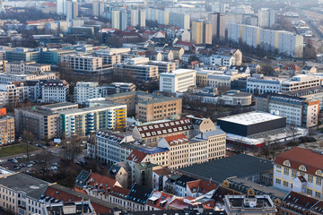 leipzig germany from above