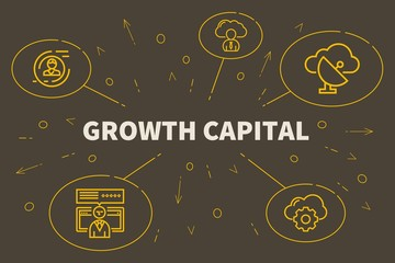 Conceptual business illustration with the words growth capital